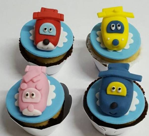 CUPCAKE PERSONALIZADO SUPER WINGS